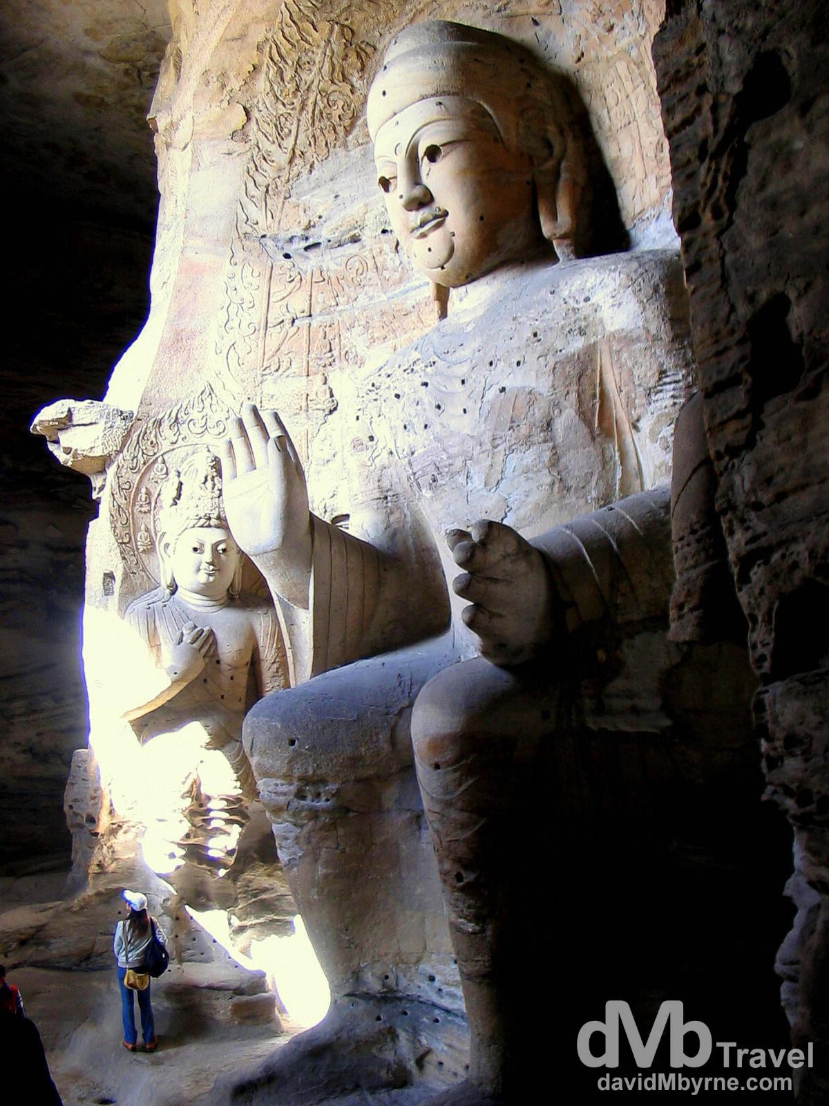 Buddha & Attendants Of Cave 3, Yungang Caves, Datong, Shanxi Provence, China. October 2nd 2004.