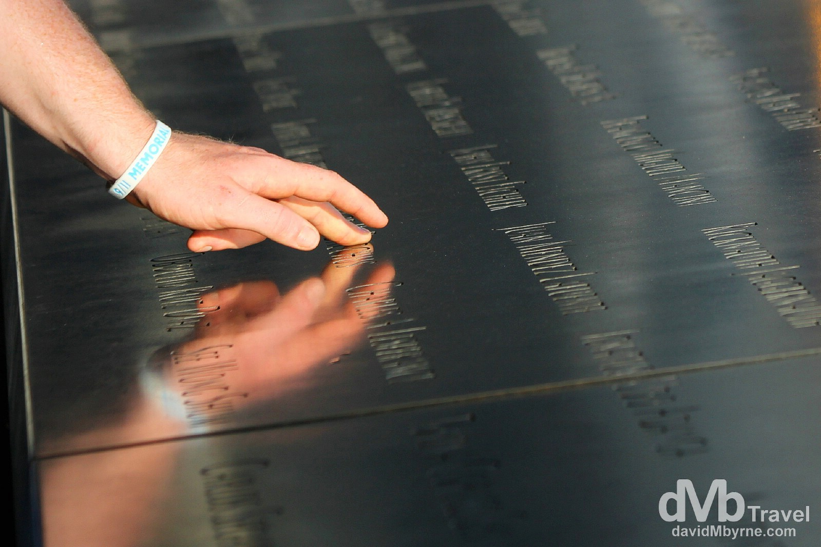 The 9/11 Memorial at the redeveloped World Trade Center, lower Manhattan, New York City, USA. July 14th 2013.