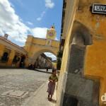 The Santa Catalina Arch spanning 5a Avenue Norte , Antigua, Guatemala. May 25th 2013.