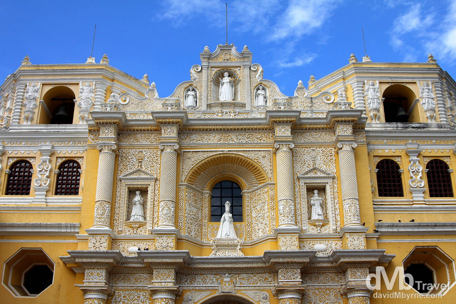 The façade of the Iglesia y Convento de Nuestra Senora de la Merced, Antigua, Guatemala. May 25th 2013.
