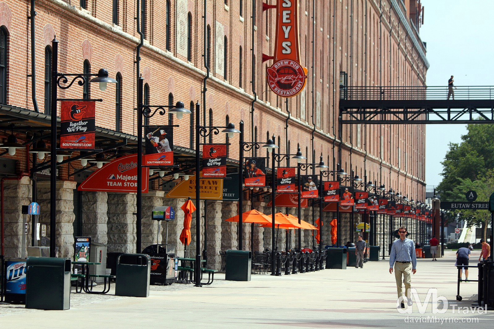 B&O Warehouse. Oriole Park at Camden Yards, Baltimore, Maryland, USA. July 10th 2013.