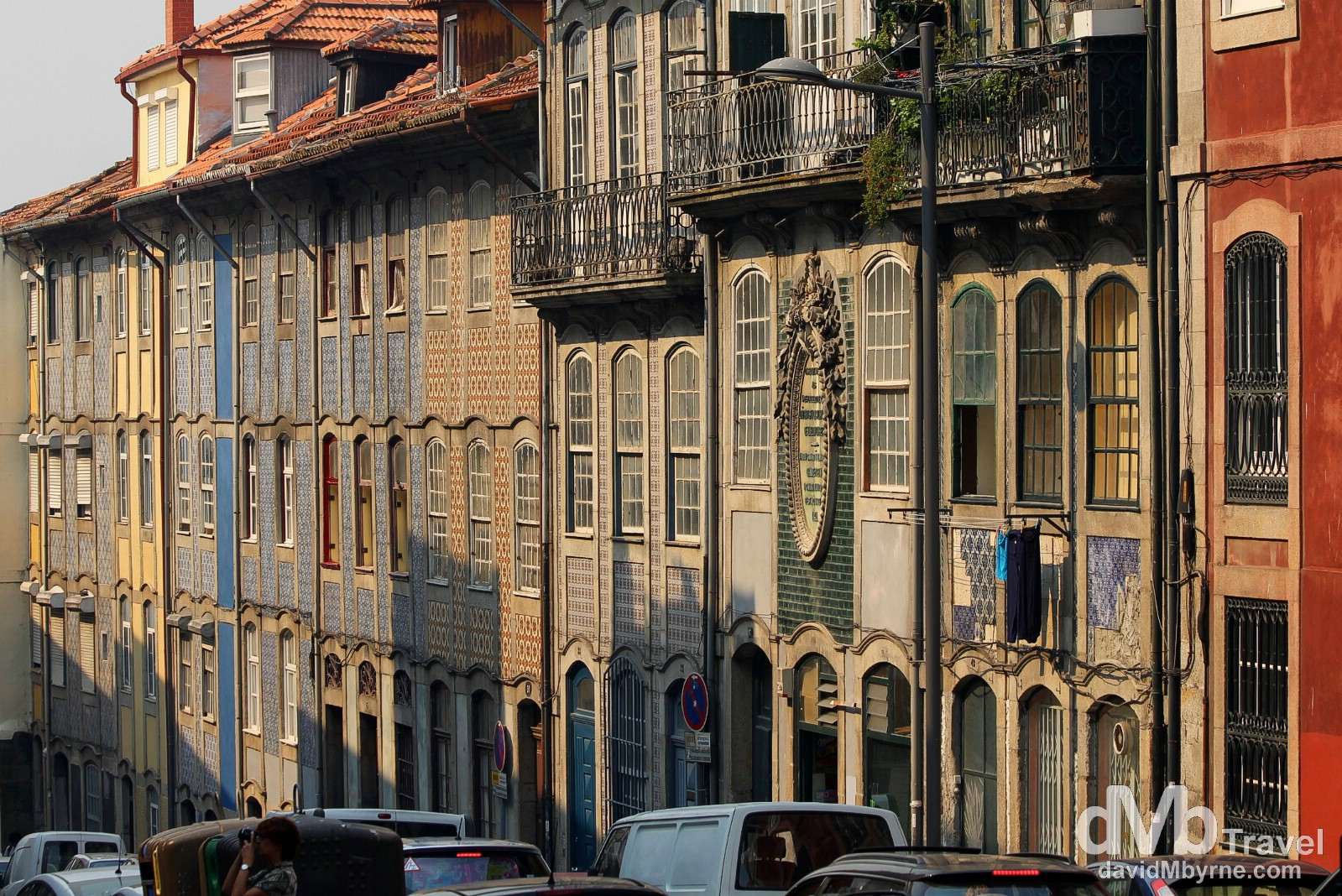 A row of houses on Babrbosa de Castro, Porto, Portugal. August 28th 2013.