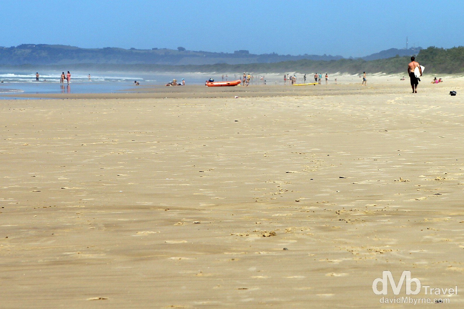 The expanse of Brunswick Heads beach, New South Wales, Australia. April 7th 2012.
