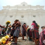 On the steps of Iglesia De Santo Tomas (Church of Saint Thomas), Chichicastenango (Chichi), Guatemala. May 23rd 2013.