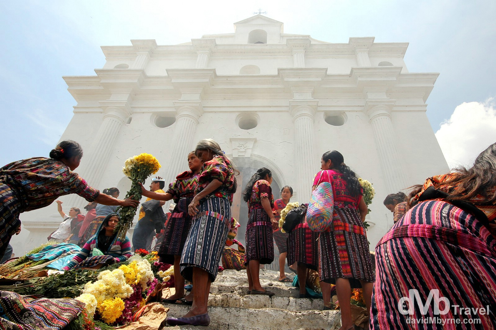 On the steps of Iglesia De Santo Tomas (Church of Saint Thomas), Chichicastenango (Chichi), Guatemala. May 23rd 2013.