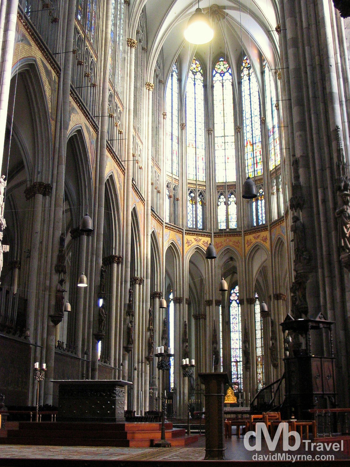 The interior of Cologne Cathedral (Köln Dom), Cologne, Germany. February 16th 2005.