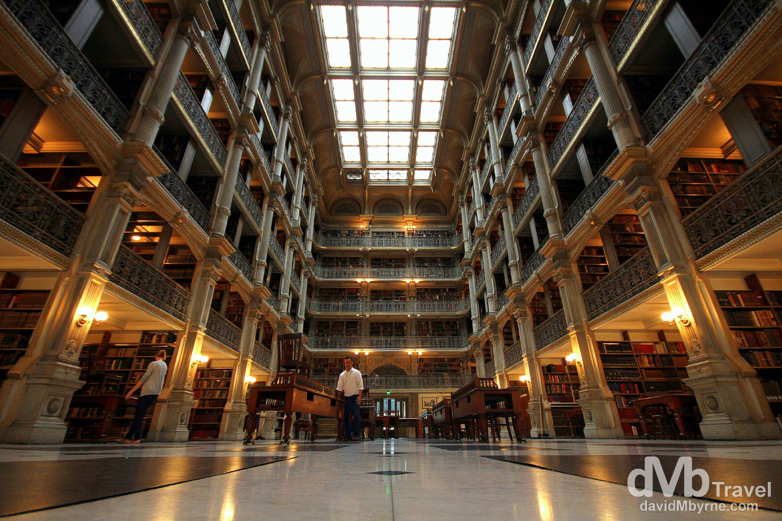 The wonderful interior of the George Peabody Library in The Peabody Institute, Mount Vernon, Baltimore, Maryland, USA. July 9th 2013.