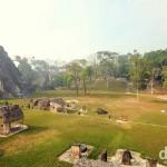 The Gran Plaza, Tikal Mayan ruins, Tikal National Park, northern Guatemala. May 17th 2013.