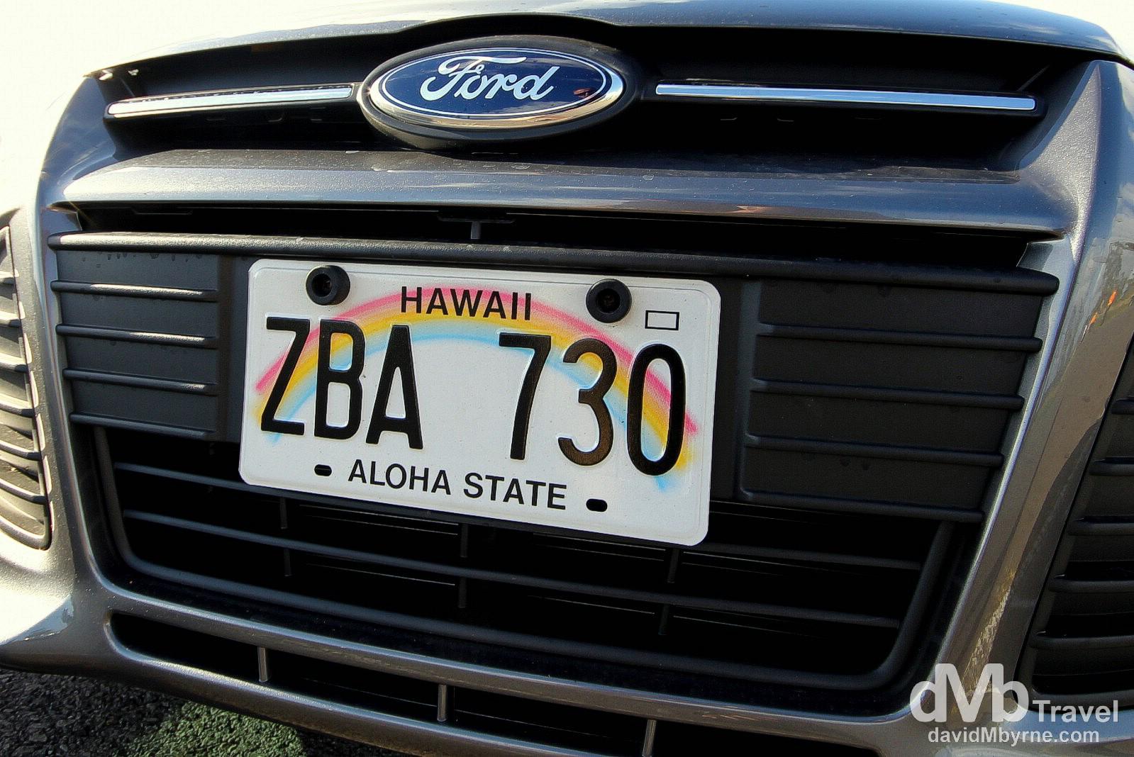 Hire car. Hilo, the Big Island, Hawaii. March 2nd 2013.