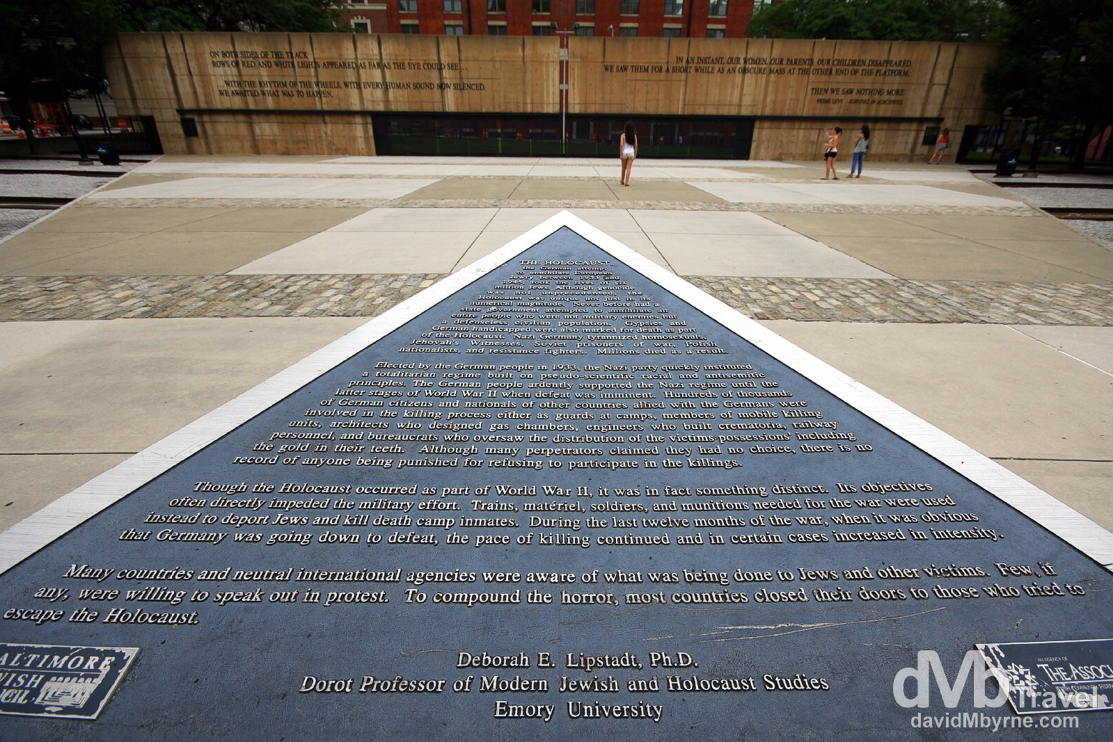 The Holocaust Memorial,  Baltimore, Maryland, USA. July 9th 2013.
