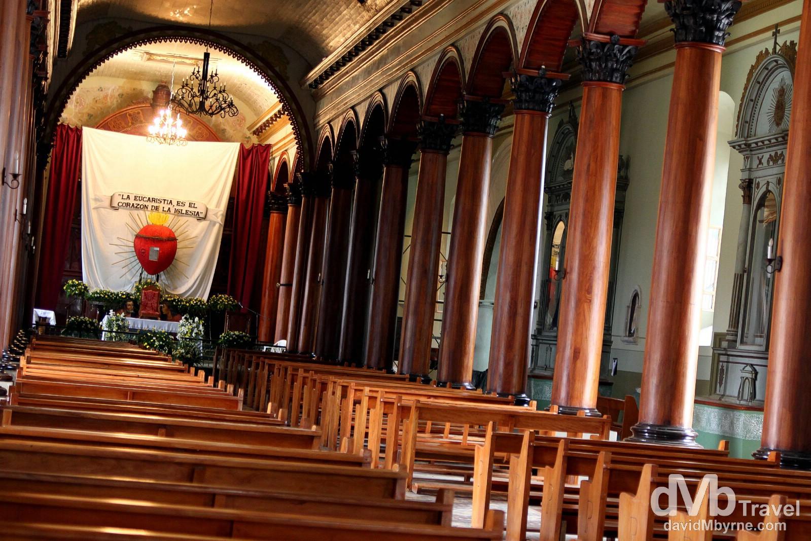Iglesia Santa Lucia in Suchitoto, El Salvador. June 4th 2013.