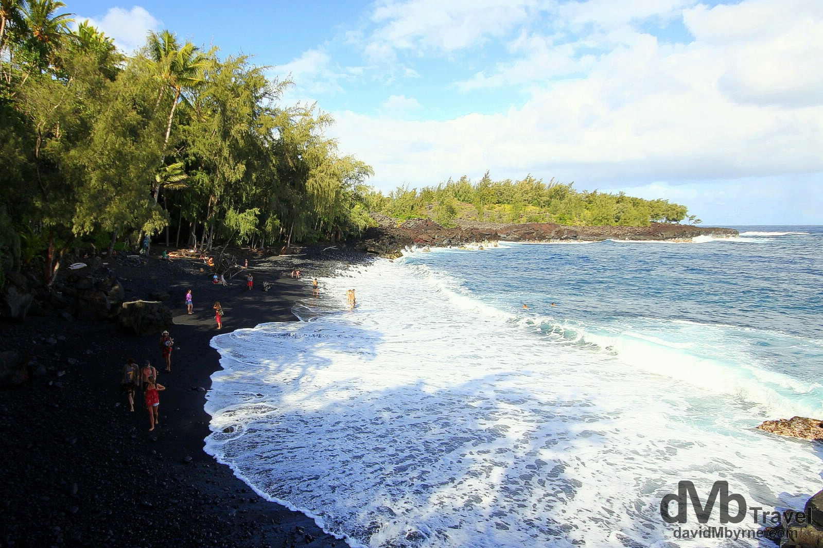 Kehena Beach was only created in 1955 by a lava flow that laid waste to the area, a powerful testament to the changing nature of the Big Island. Kehena Black Sand Beach, The Big Island, Hawaii. March 1st 2013.