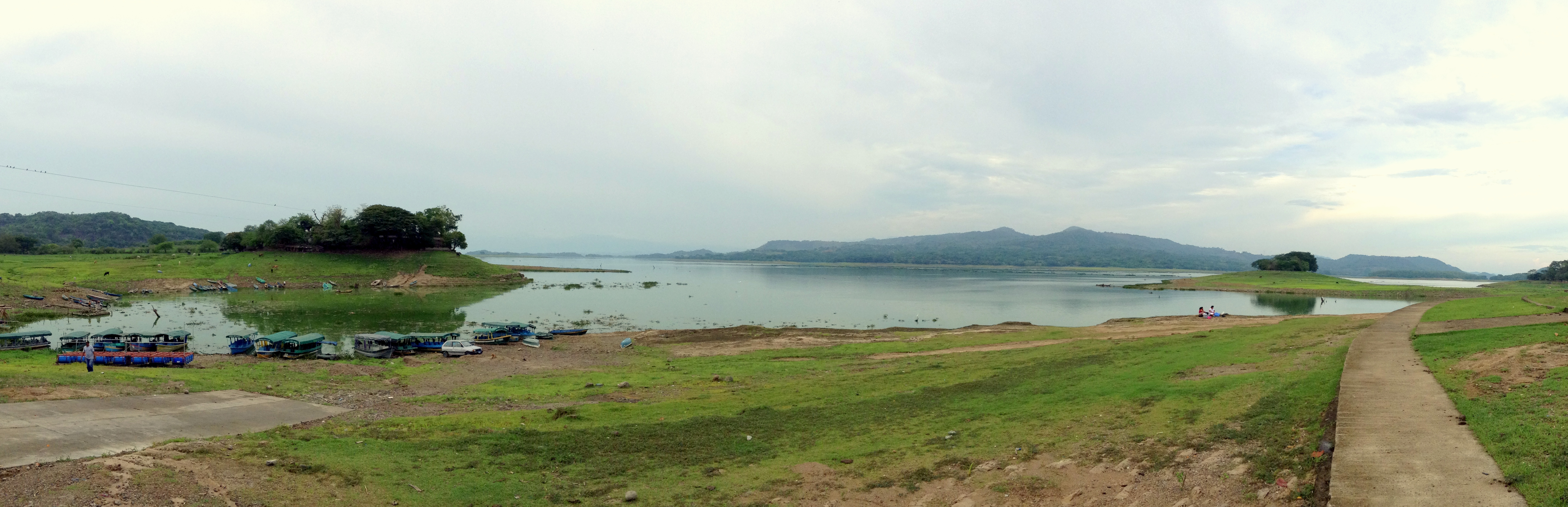An iPod panorama of Lago Suchitlan, Suchitoto, El Salvador. June 4th 2013 (iPod) *Click on the image to view full screen.*
