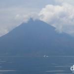 Boating near the base of the San Pedro Volcano on Lake Atitlan, Guatemala. May 24th 2013.