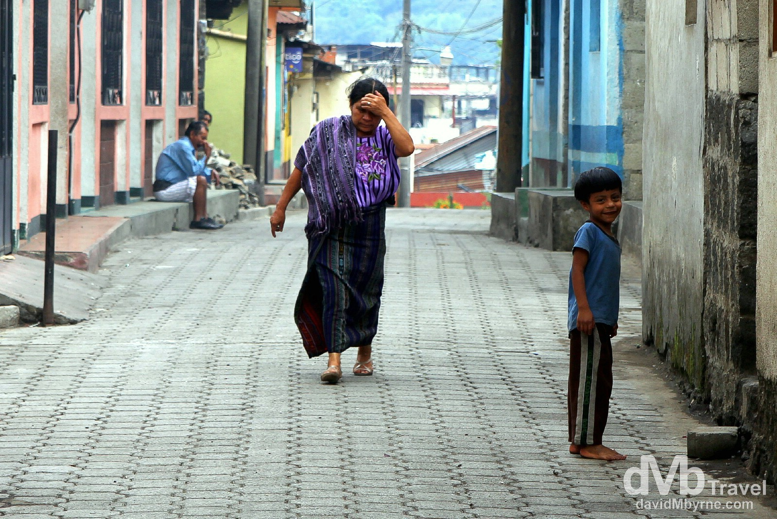Smiles in a lane in Santiago Atitlan, Guatemala. May 24th 2013.