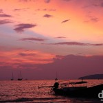Late sunset on Hat Rai Leh West Beach, Krabi, Thailand. March 19th 2012