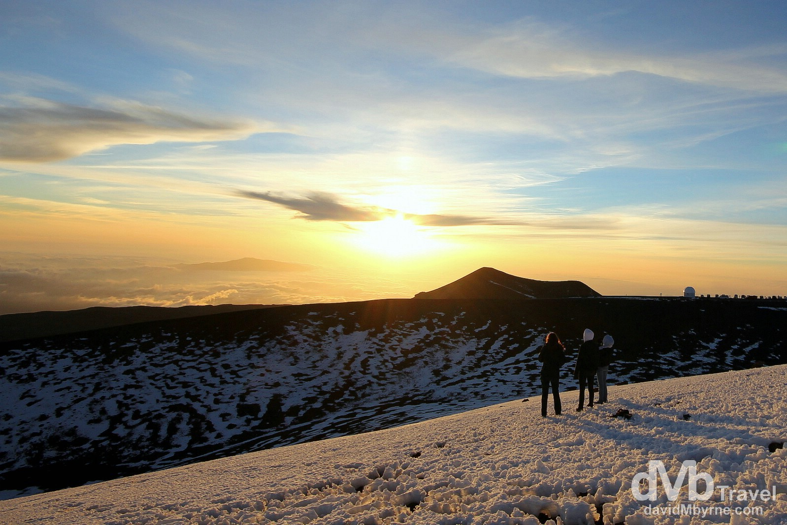 Sunset from the top of Mauna Kea, the Big Island of Hawaii, USA. March 3rd 2013.