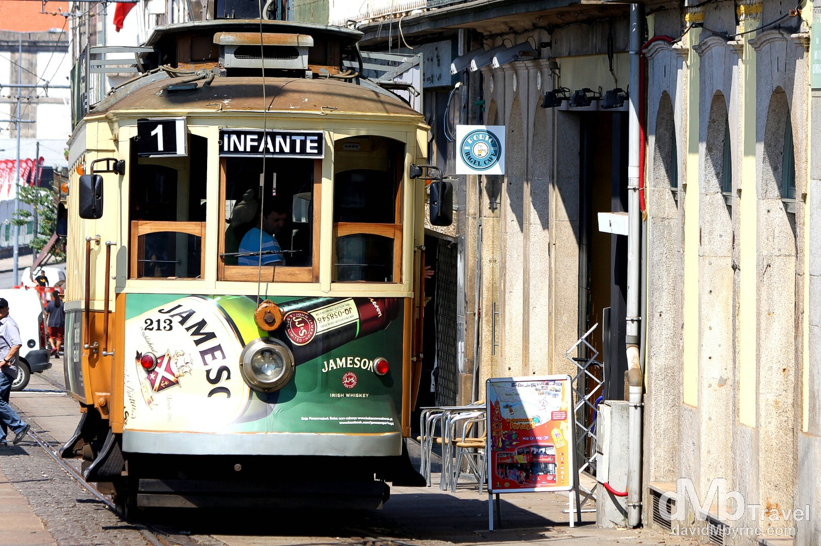 Tram Number 1, Ribeira, Porto, Portugal. August 29th 2013.