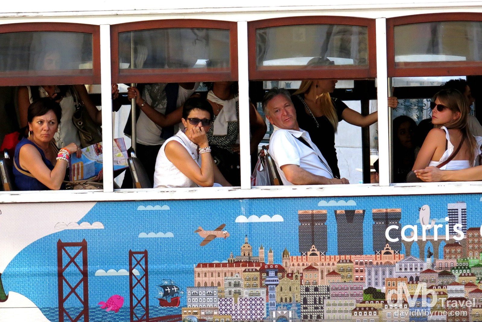 Riding Tram 28, Lisbon, Portugal. August 26th 2013.