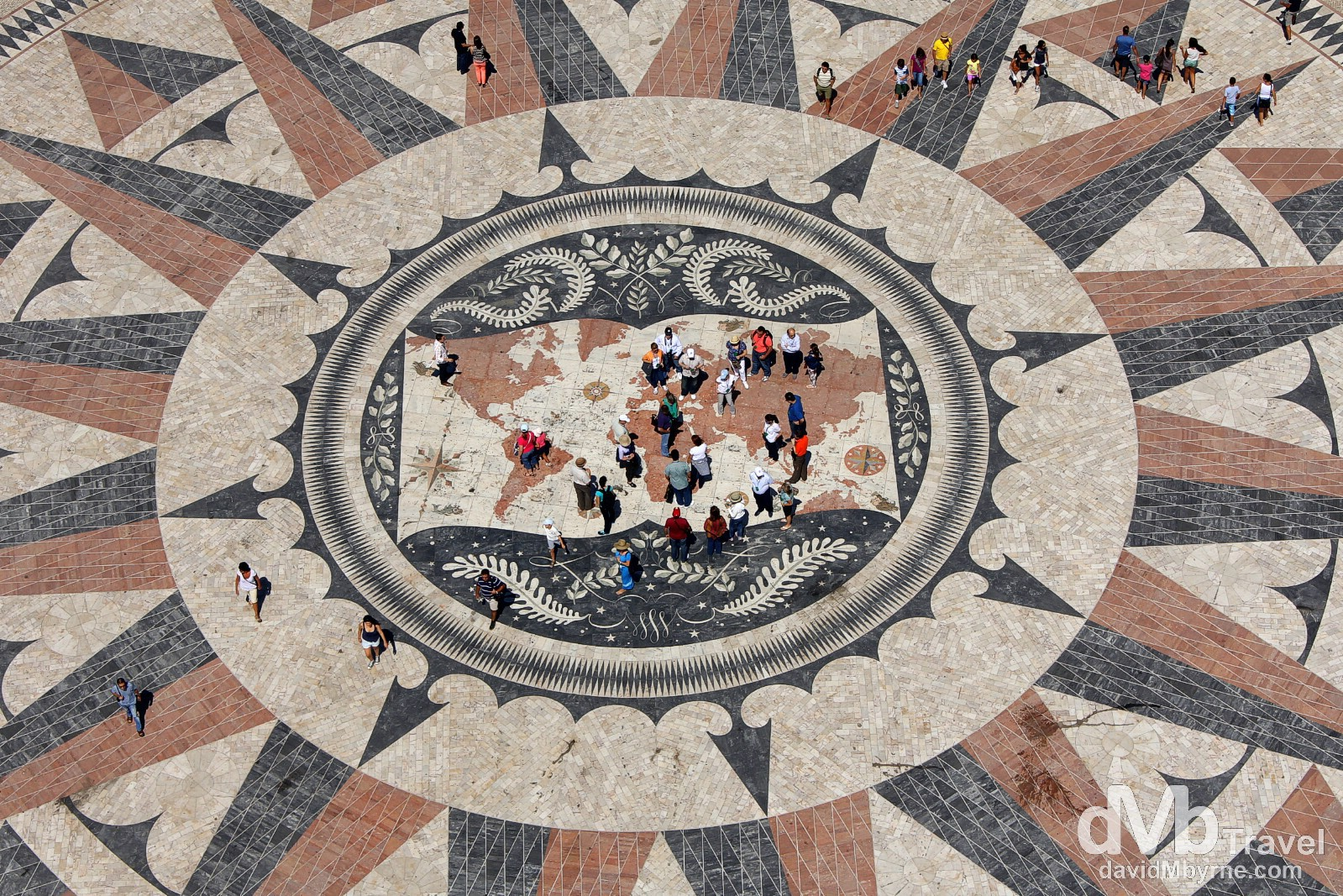 The view from the top of the Monument To The Discoveries in  Belem, Lisbon, Portugal. August 26th 2013.