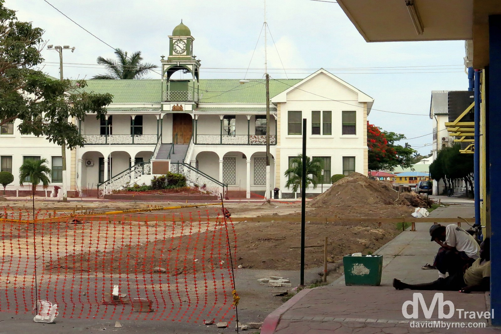 The 1926 Belize City Court House fronting Battlefield Park, Belize City, Belize. May 12th 2013.