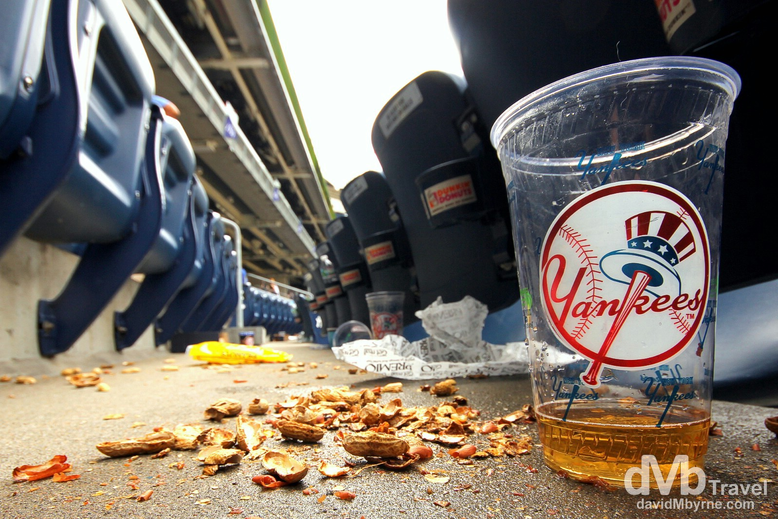 Peanuts & beer. Yankee Stadium, The Bronx, New York. July 13th 2013.