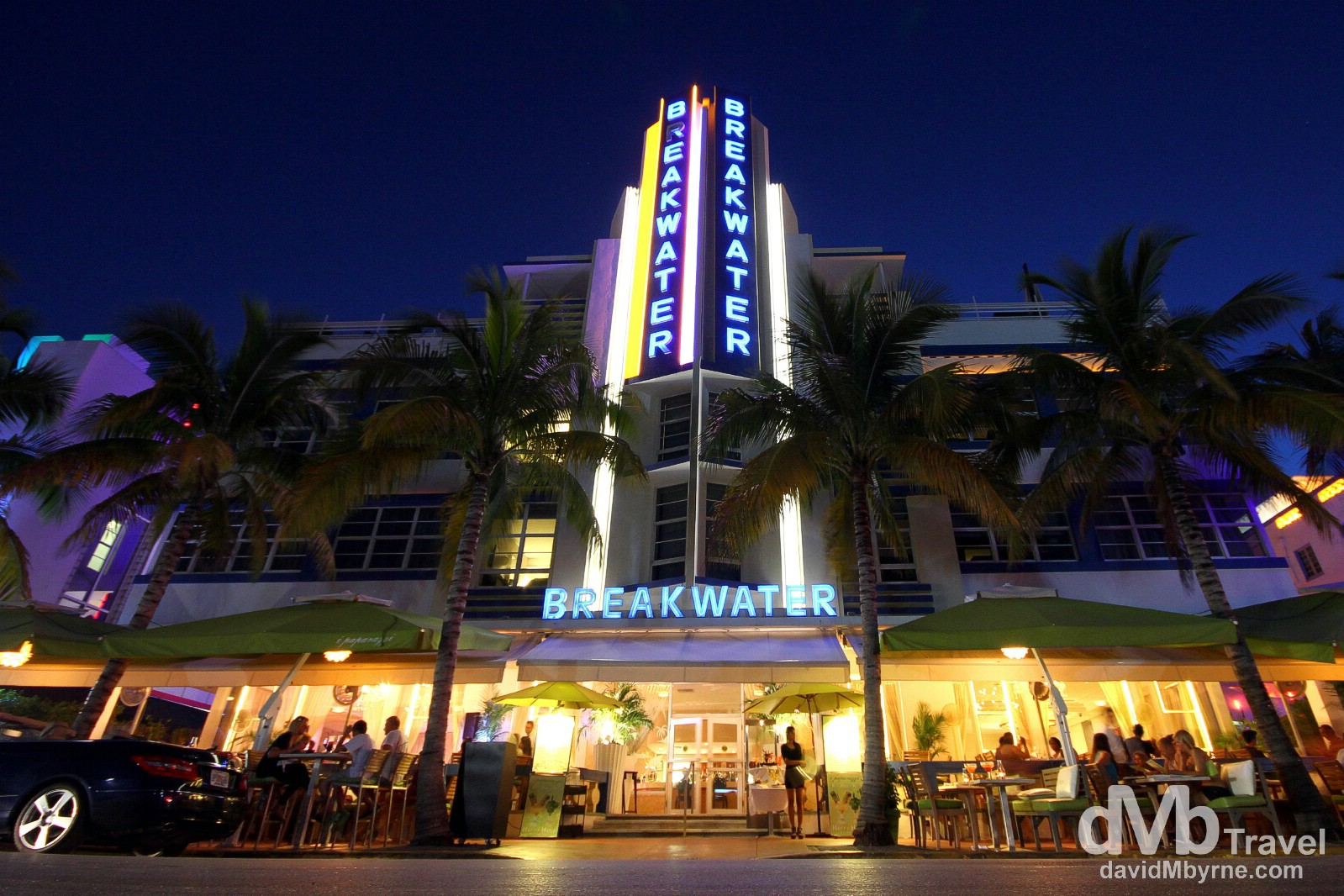 The Breakwater Hotel, Ocean Drive, Miami, Florida, USA. July 8th 2013.