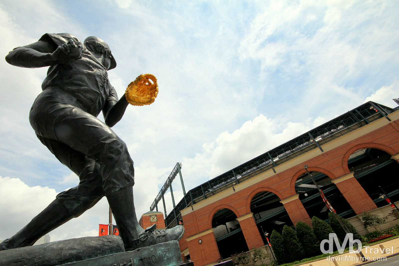 A statue outside of Oriole Park at Camden Yards of Brooks Robinson, a lifetime Oriole & widely regarded as the best third baseman to ever play baseball. Baltimore, Maryland, USA. July 11th 2103.
