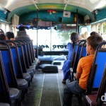 On the unusually quiet chicken bus from Suchitoto to Las Aguilares, El Salvador. June 5th 2013.