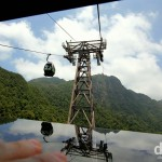 Riding the Cable Car on Gunung Machinchang, Langkawi Island, Malaysia. March 22nd 2012.