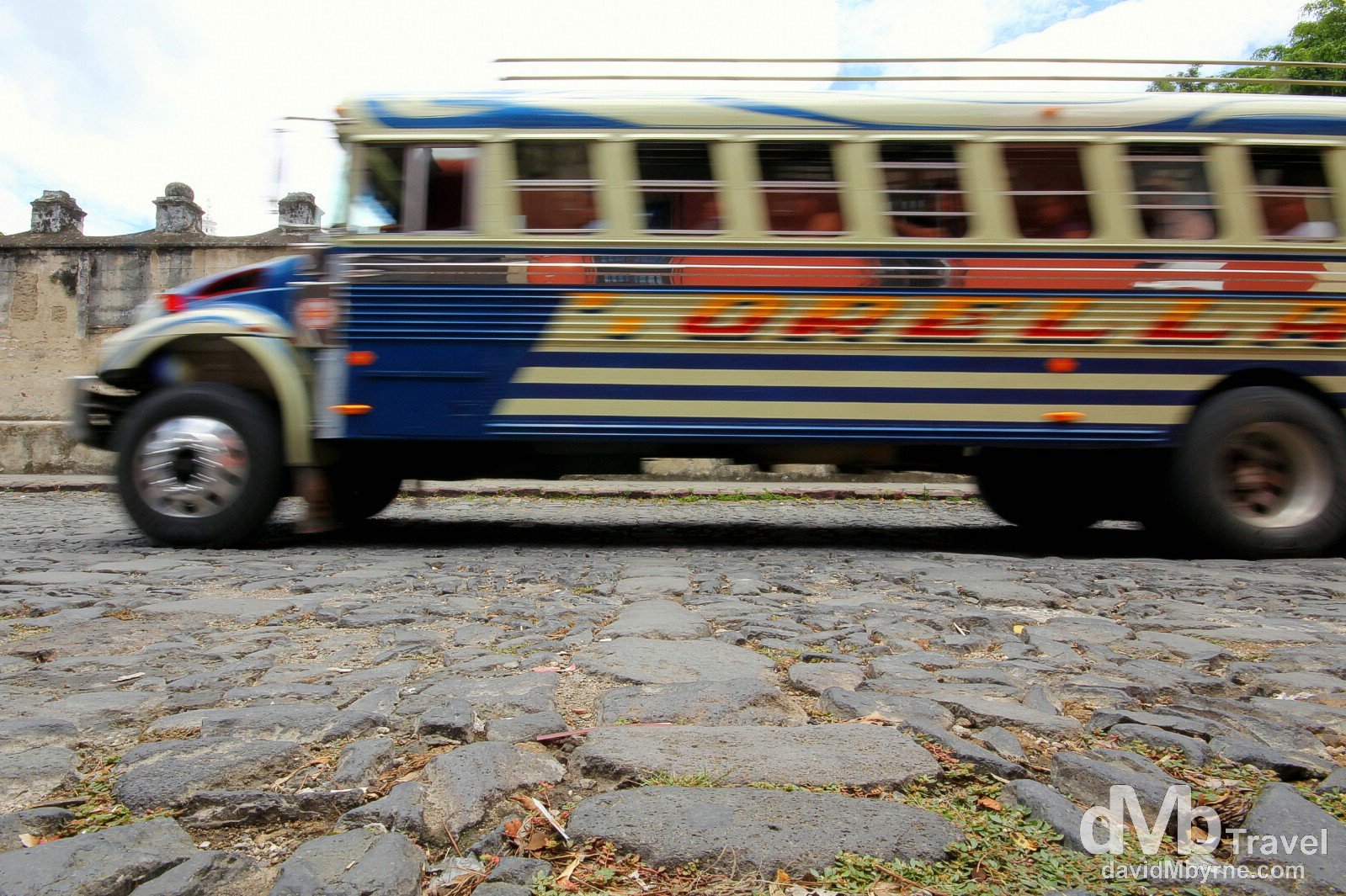 A chicken bus on the streets of Antigua, Guatemala. May 20th 2013.