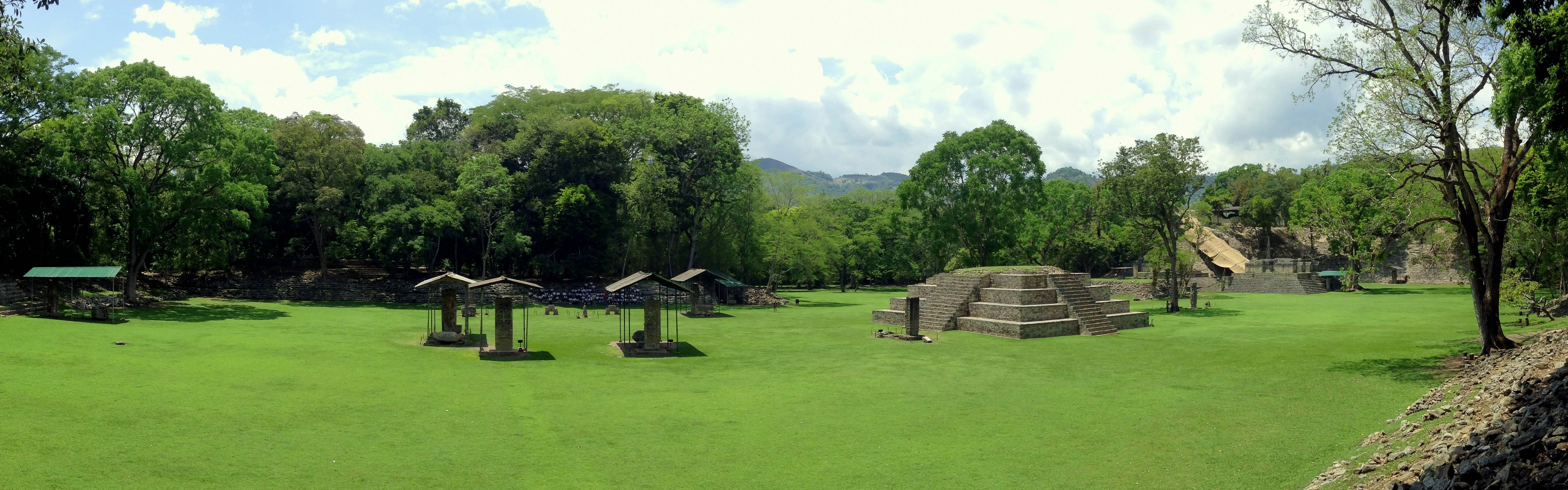 A panorama of the Great Plaza of the Copan Architectural Site, western Honduras. June 7th 2013 (iPod)