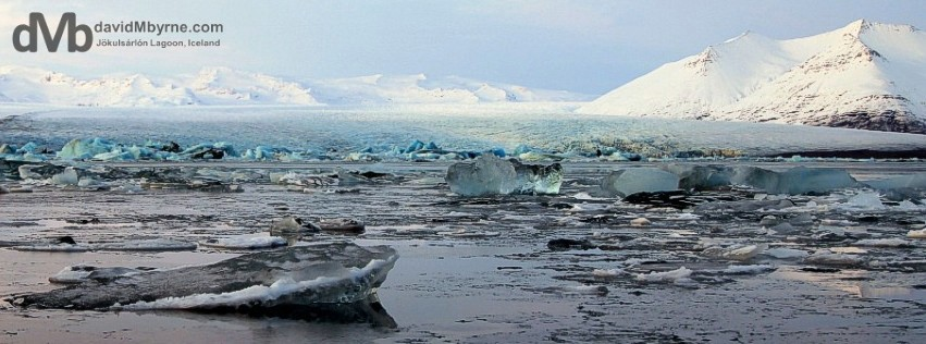 Jökulsárlón Glacial Lagoon, Southern Iceland.