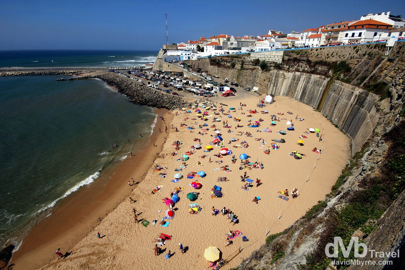 Praia dos Pescadores (Fisherman's Beach) in Ericeira, Mafra, Portugal. August 24th 2013.