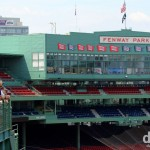 A section of a tour in Fenway Park, Fenway, Boston, Massachusetts, USA. July 17th 2013.