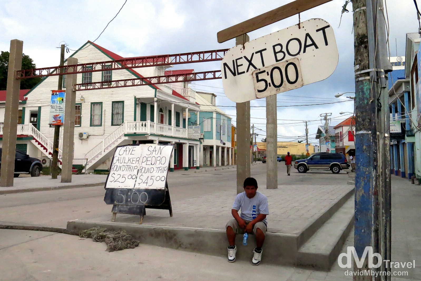 Outside the Ferry Terminal in Belize City, Belize. May 12th 2013.