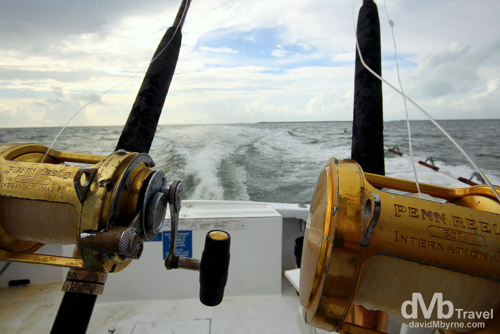 Fishing off the Florida Keys offshore of Key West, Florida, USA. July 6th 2013.
