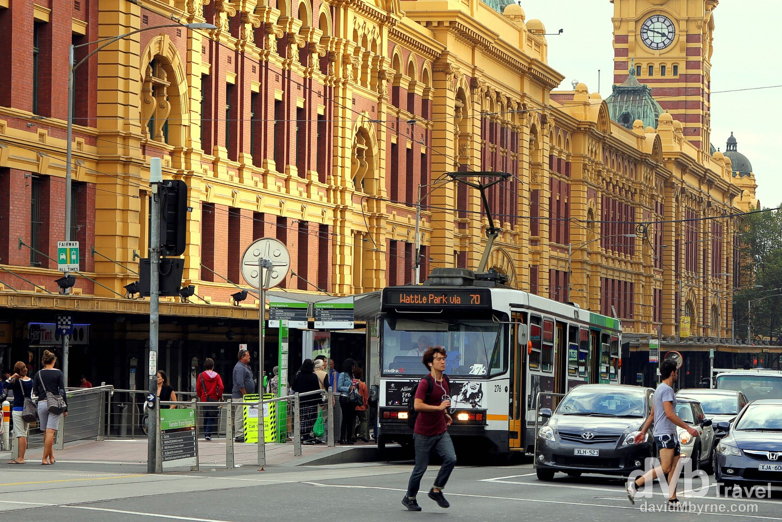 Flinders Street Train Station, Melbourne, Victoria, Australia. April 19th 2012
