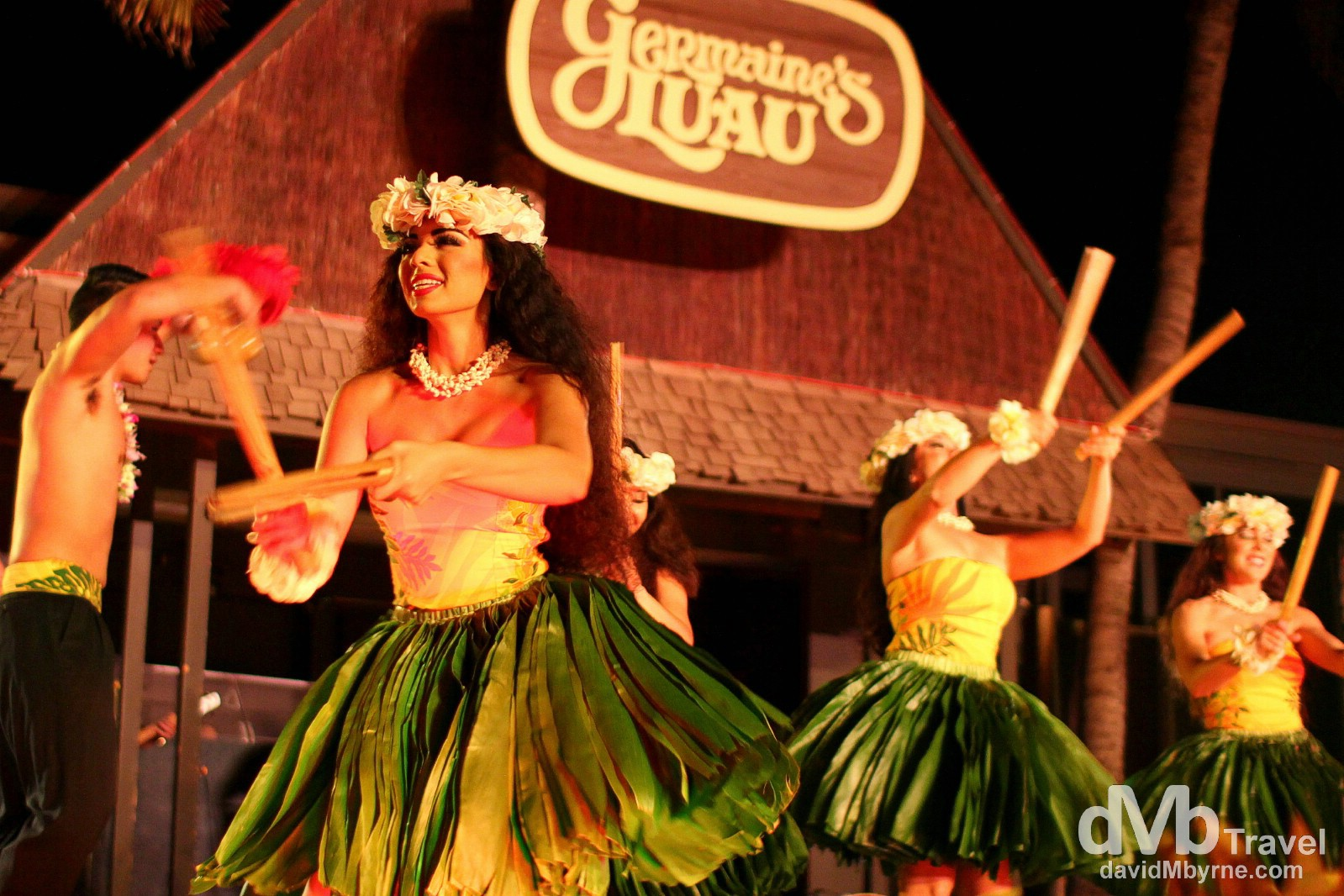 Dancers at Germaine's Luau, Oahu, Hawaii. February 27th 2013.