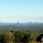 The Glass House Mountains as seen from a lookout in the Mary Cairncross Reserve, Queensland, Australia. April 4th 2013.