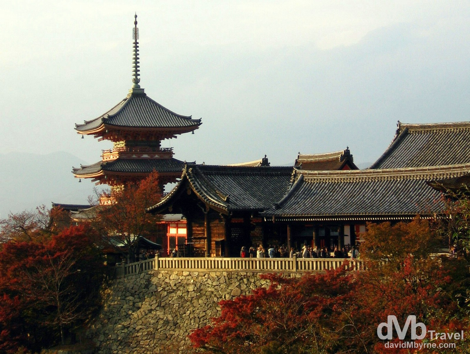 Kiyomizu-dera (Pure Water) Temple, Kyoto, Japan. November 20th 2007.