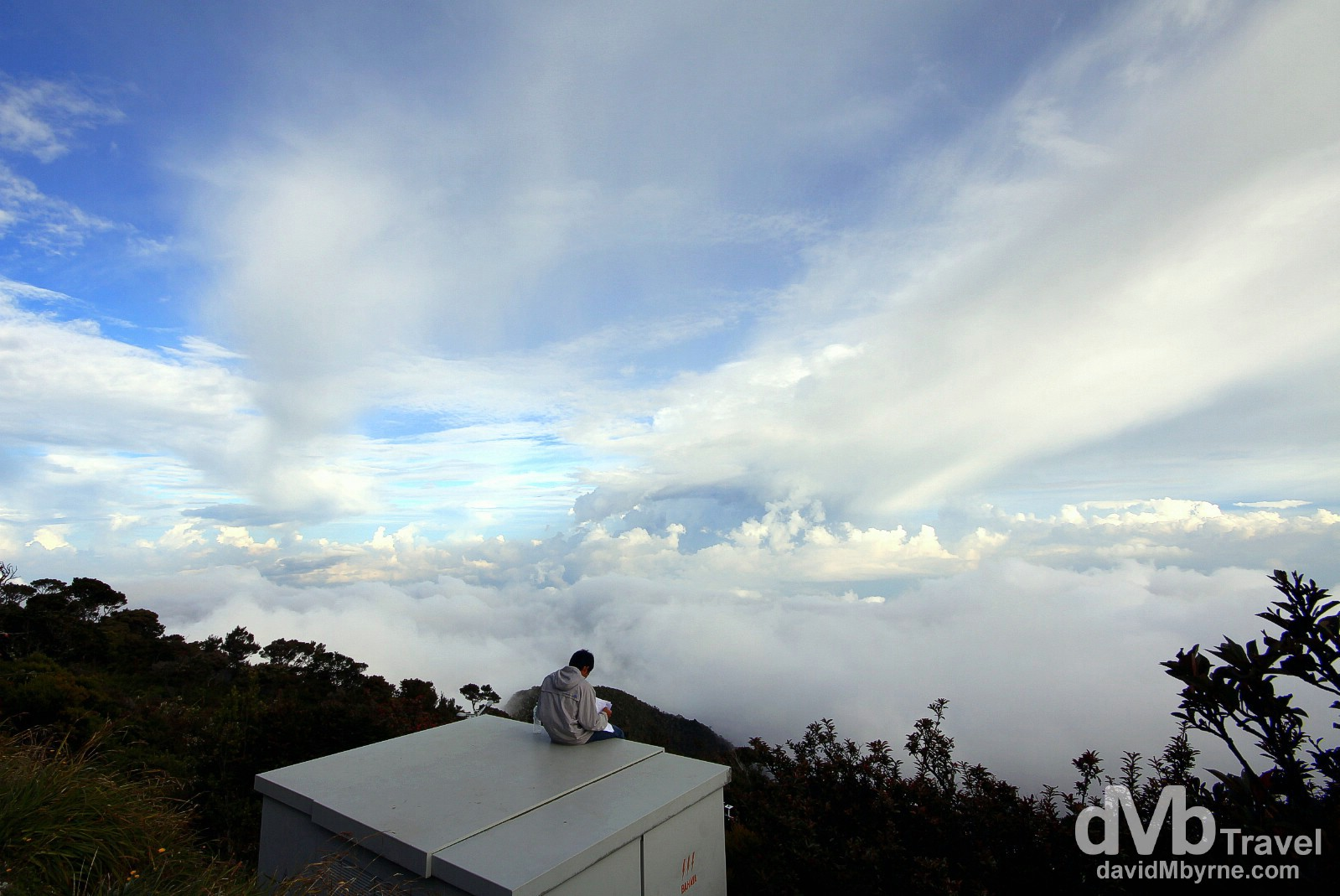 Above the clouds at Laban Rata high on the slopes of Mount Kinabalu, Sabah, Malaysian Borneo. June 22nd 2012.