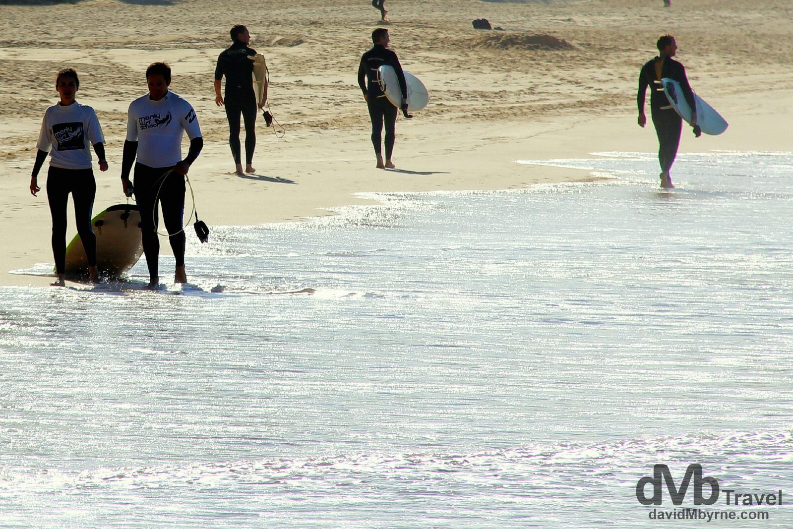 Manly Beach, Sydney, Australia. June 8th 2012.