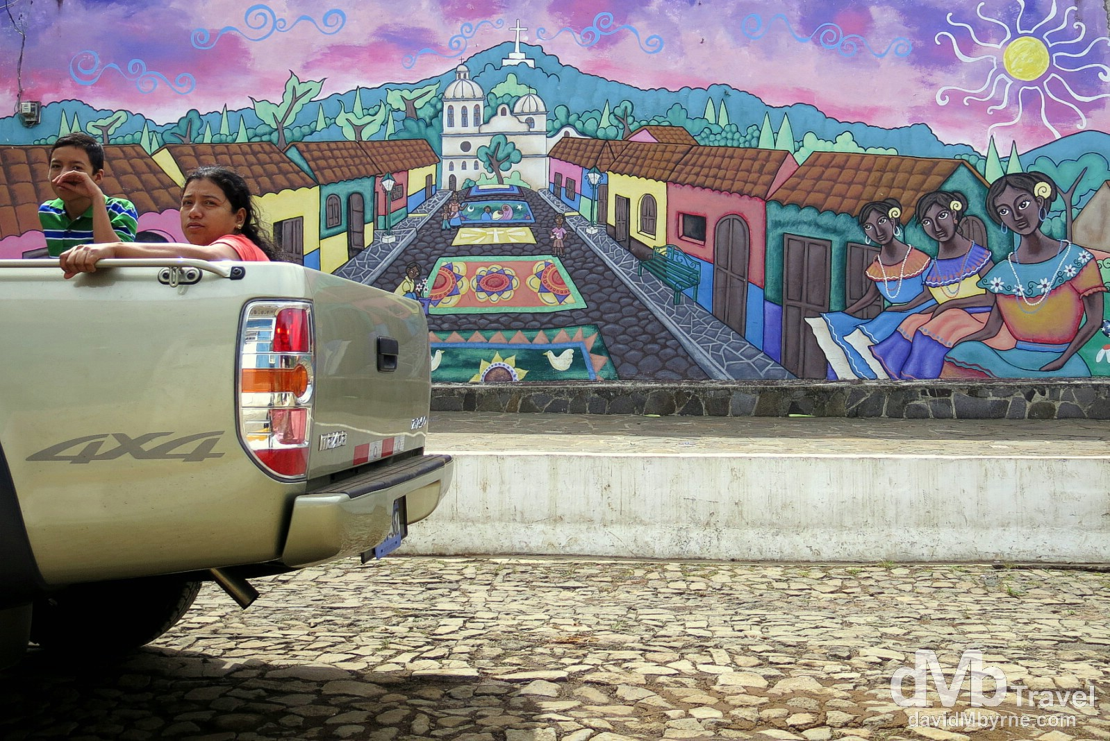 Murals on the streets of Ataco, western El Salvador. June 2nd 2013