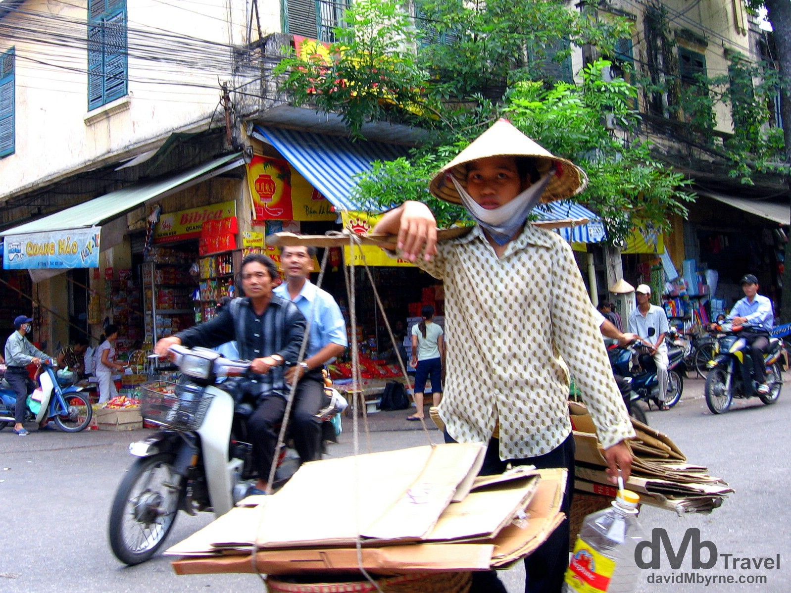 Activity on the streets of the Old Quarter of Hanoi, northern Vietnam. September 5th 2005.