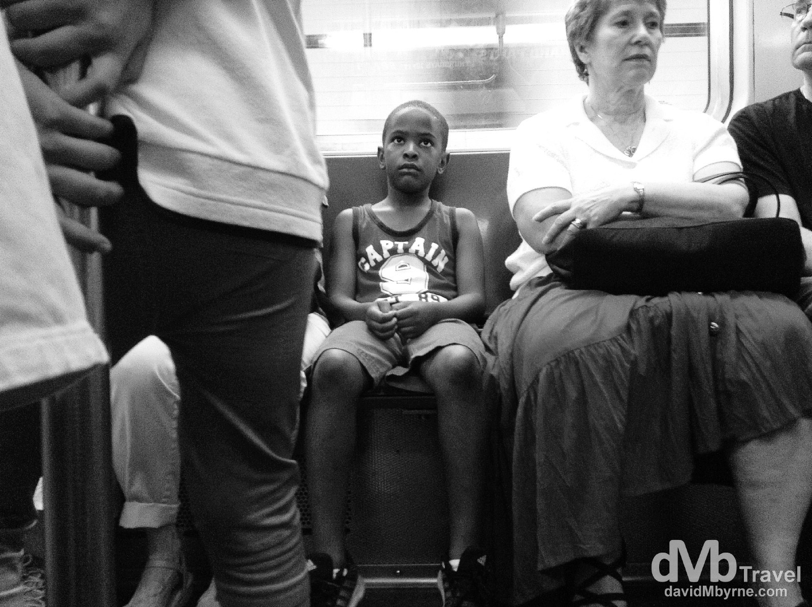 Riding the subway in New York City. July 13th 2013. (iPod)
