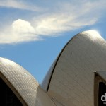 The roof of the Opera House in Sydney, Australia. June 5th 2012.