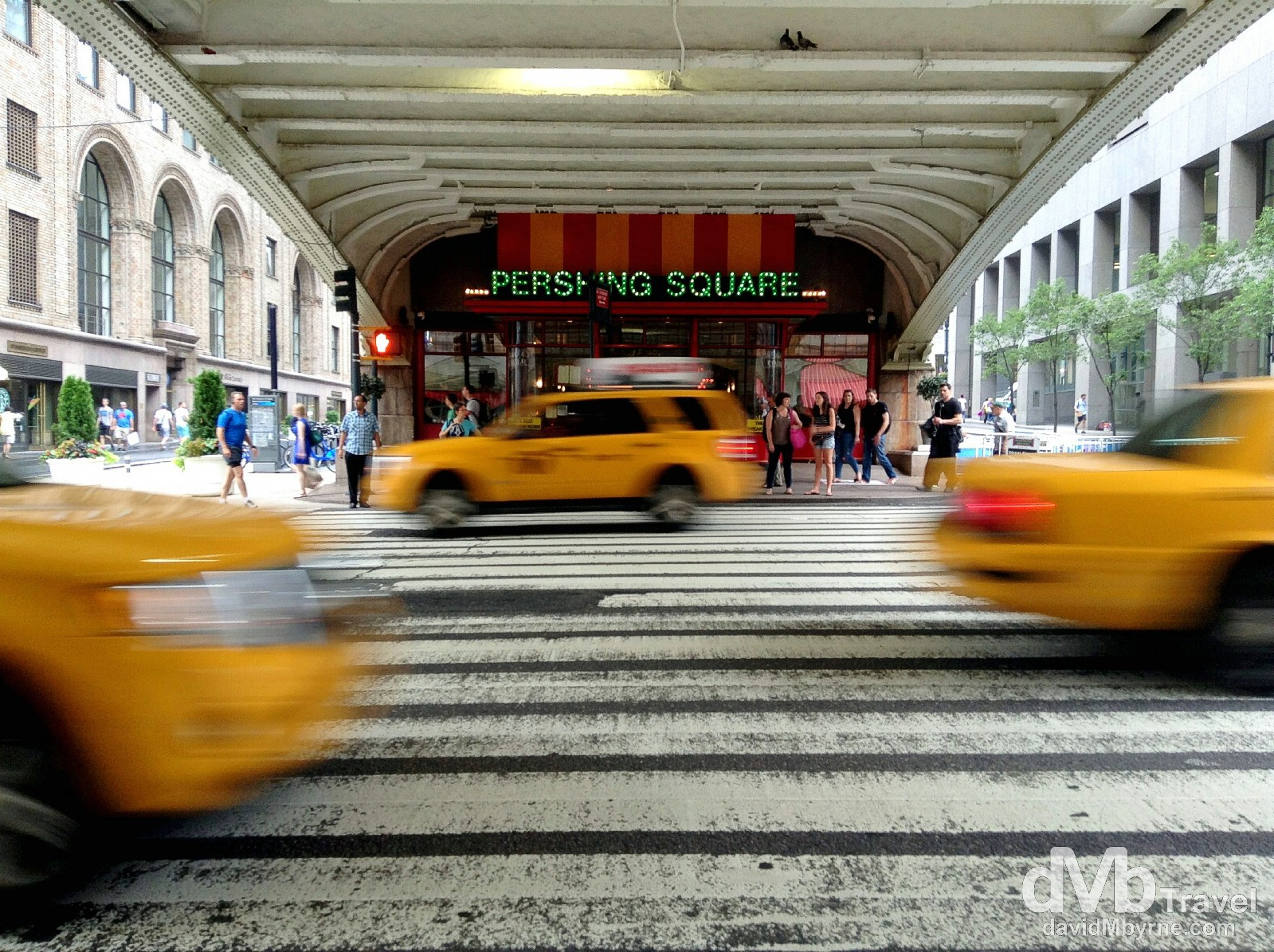 Traffic outside Grand Central Station/Terminal, New York City, USA. July 13th 2013. (iPod)