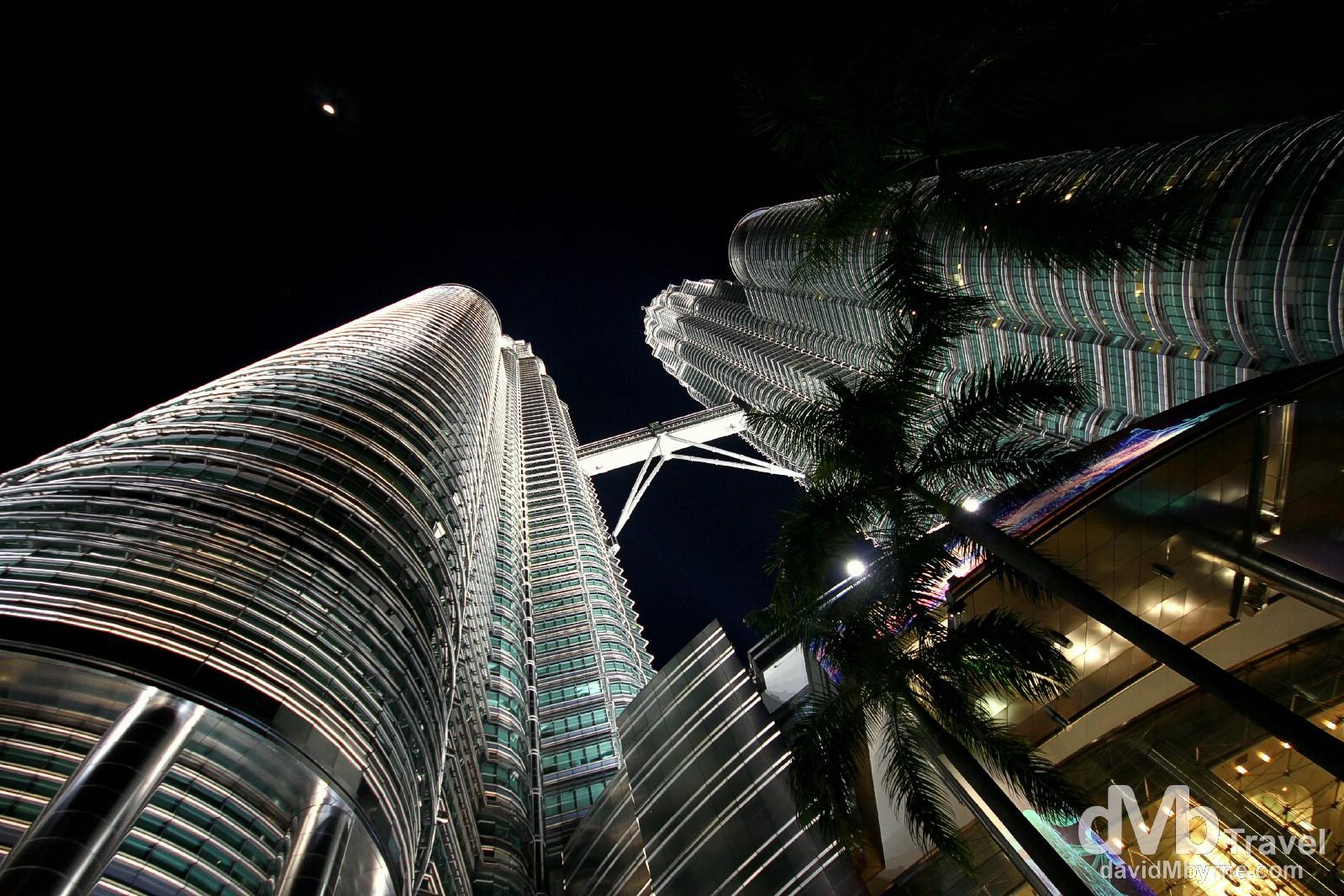 Skyward. Petronas Towers, Kuala Lumpur, Malaysia. March 31st 2012.