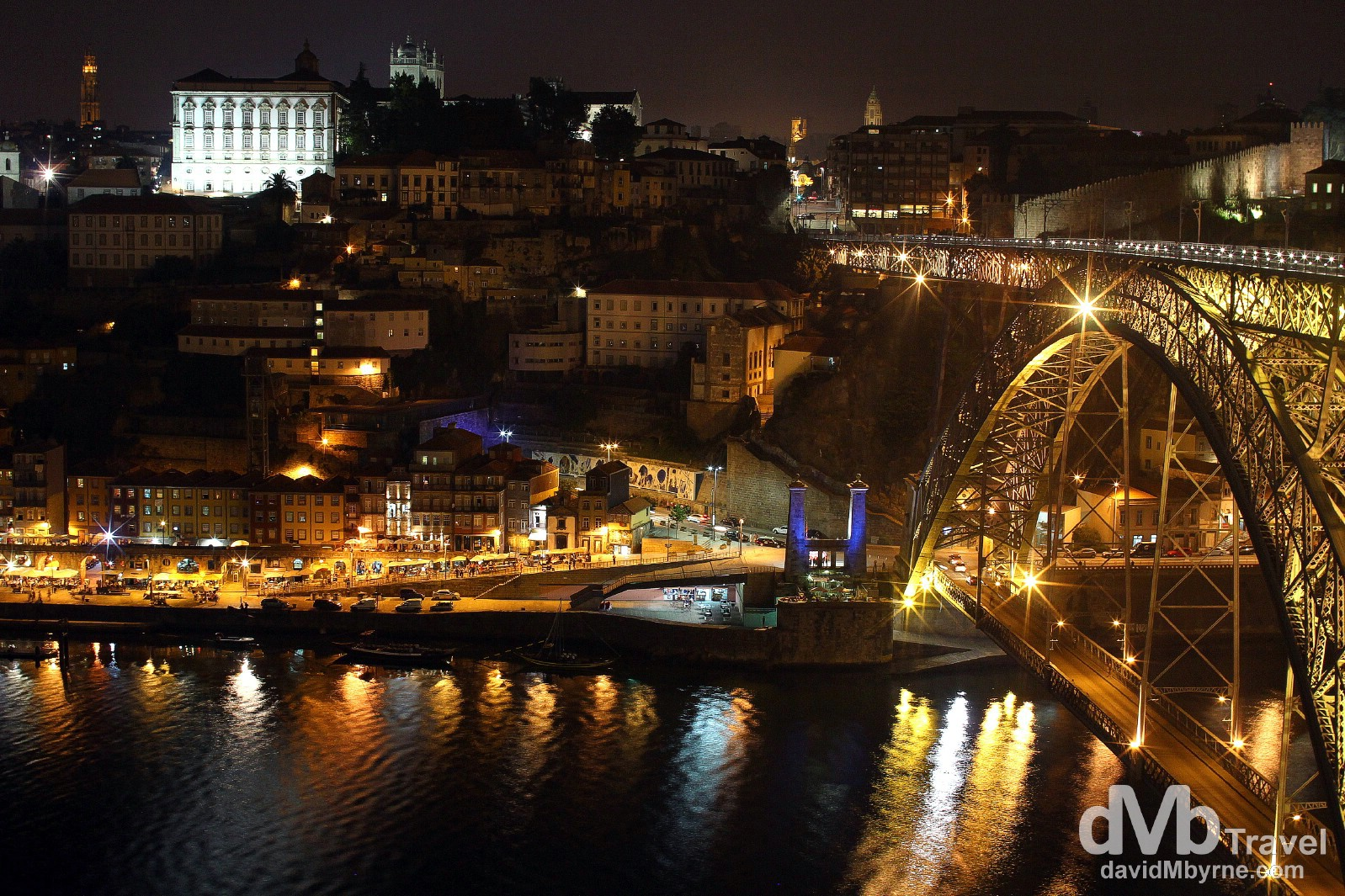 I didn't find Porto as photogenic at night as I found Lisbon but I did like this night time view, a view of the Douro River, Ponte D. Luis I bridge & the historic centre of Porto as seen from the Jardin do Morro in the Gaia district of the city. August 28th 2013.